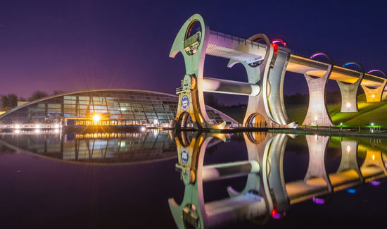 innovative rotating boat lift in clyde canal falkirk