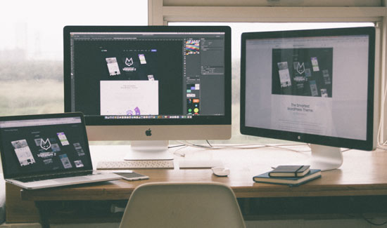 responsive web design on multiple sized monitors